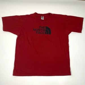 The north face men's T-shirt red large